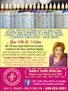 Little Truths Store. June 2016 flyer