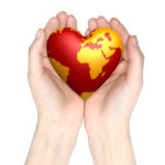 heart world in hands