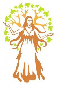 12492438 - panacea - ancient greek goddess.  vector illustration.
